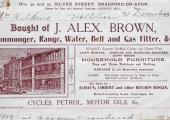 J. Alex Brown billhead 1909