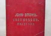 John Brown, ironmonger, Bradford on Avon account book