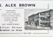 J. Alex Brown advertisement, 1950s