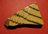 sherd of slipware pottery