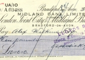 Midland Bank cheque