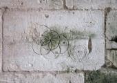 Tithe Barn, Barton Farm, grafitti