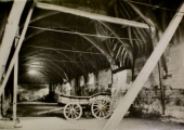 Tithe Barn, Barton Farm, wagon