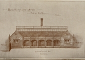 drawing of projected baths building
