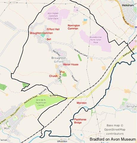 Broughton Gifford map