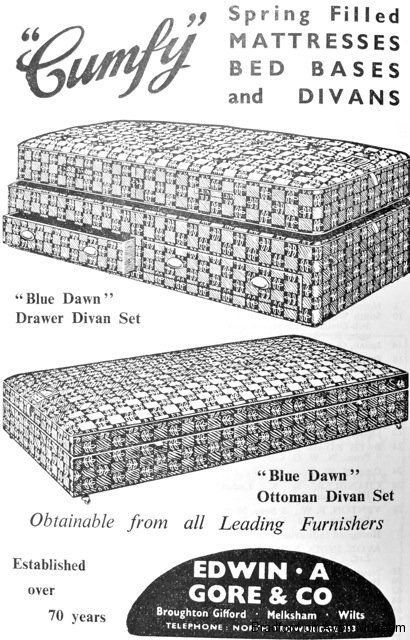 Gore beds, Broughton Gifford, advert