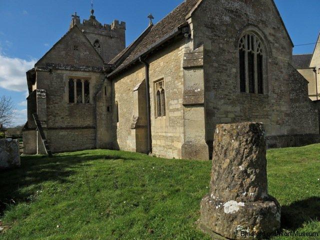 cross and Parish Church, Broughton Gifford