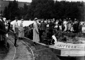Red Cross hospital barge Bittern at Avoncliff c1917