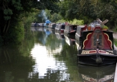 Barges on the Kennet & Avon Canal