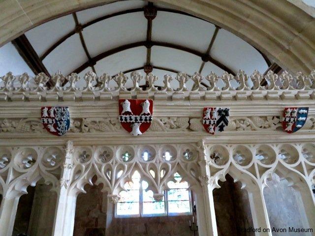 Tropenell Chapel screen, Great Chalfield church