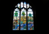 stained glass, Great Chalfield church
