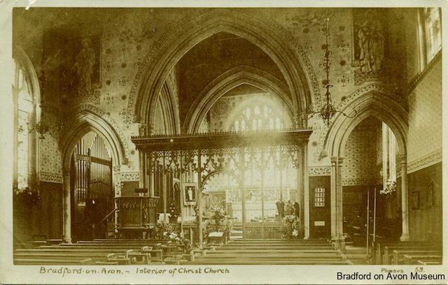 Christ Church interior after alteration, Bradford on Avon