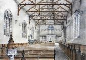 Christ Church interior before 1878, Bradford on Avon