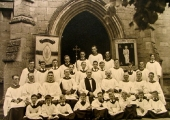 Christ Church Choir, about 1940
