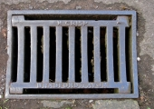 Henry Crisp cast iron gully grating