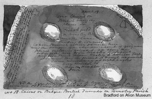 Rev Skinner - burial mounds near Winsley