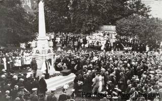 Dedication of the war memorial, Westbury Gardens 1922