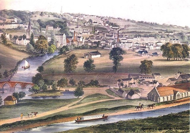View of Bradford in the 1850s
