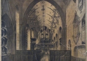 Interior of Holy Trinity Church, lithograph by William Millington