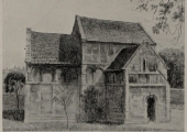 Saxon Church, from a drawing by Edward Walker 1943