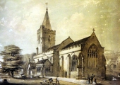 Holy Trinity Church, lithograph by William Millington