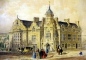 Town Hall, lithograph by William Millington