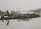 flood at Barton Bridge, Bradford on Avon 1925