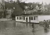 flood, library, St Margaret's 1979