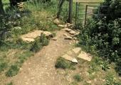 broken stone stile, Bearfield, Bradford on Avon