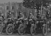 motorcycle despatch riders, WW2, Bradford on Avon