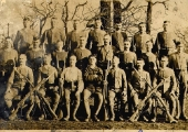 Great War soldiers out of uniform
