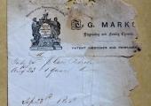 George Marks, chemist, billhead