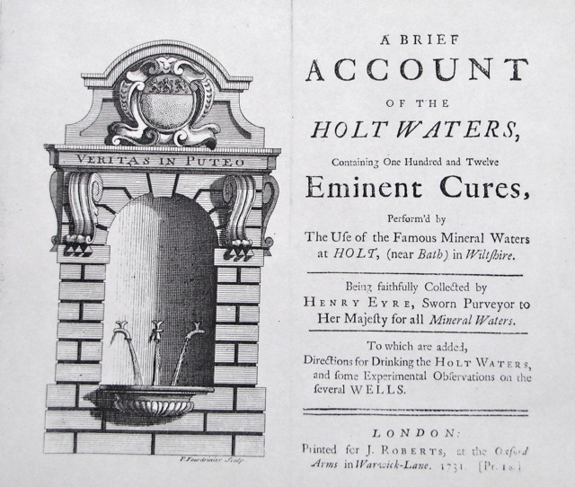 Henry Eyre\'s book on the Holt Spa water 1731