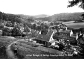 Limpley Stoke, old school, Baptist Chapel and valley