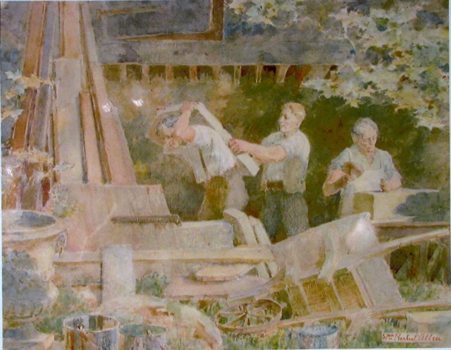 stone workers in Long's yard, Newtown, Bradford on Avon