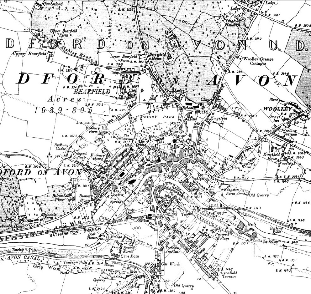 Bradford 1900, 6-inch Ordnance Survey map