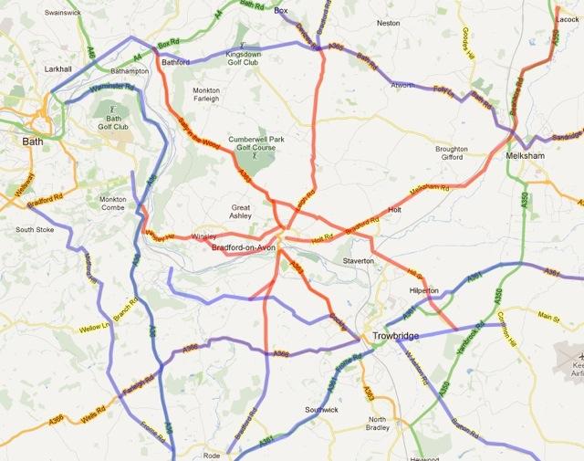 Bradford Roads Trust (in red)