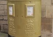 golden postbox, Shambles/Market Street