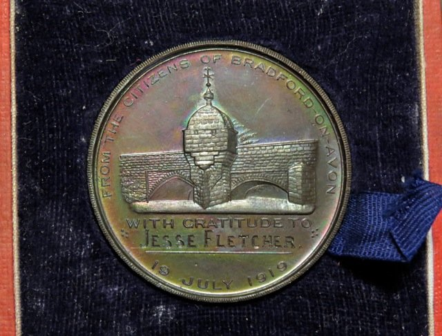 WW1 medallion: Jesse Fletcher