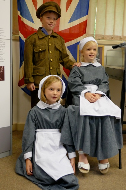 dressing up at the Great War exhibition