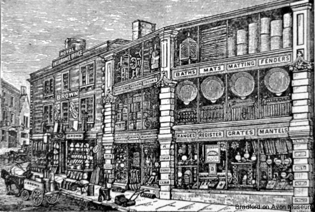 Brown's ironmonger shop 1887