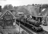 Bradford on Avon Station in 1962, not long before the end of steam.