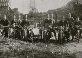 motorcycle club at Farleigh Castle 1927