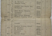 Bradford Juniors Football Team fixture list 1913-4
