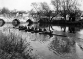 Bradford Rowing Club eight at Barton Bridge