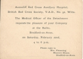 Red Cross invitation