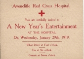 Red Cross New Year invitation