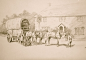 wagon delivering to Beavens' at Holt