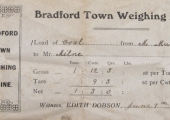 ticket from Bradford Town weighbridge