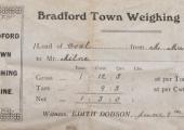 ticket from Bradford Town weighbridge